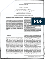 Movement Disorders in Sleep - Parkinson's Disease and Restless Legs Syndrome