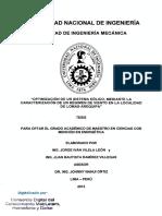 OPTIMIZACIÓN DE UN SISTEMA EÓLICO, MEDIANTE LA CARACTERIZACIÓN DE UN RÉGIMEN DE VIENTO EN LA LOCALIDAD -  Tesis.pdf