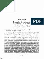 Principios de evaluación en psicología de la salud