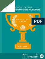 Liderazgo de Chile en Exportaciones Mundiales 2018 IC