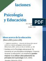 Las Relaciones Entre Psicología y Educación