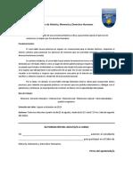Autorización Taller de Historia, Memoria y DDHH (1)