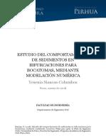 ESTUDIO DEL COMPORTAMIENTO DE SEDIMENTOS EN BIFURCACIONES