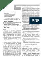 Ley de Creacion Del Distrito de San Miguel
