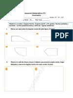 evaluacion geometria 3°b