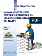 Guide Construction Petits Batiments Maconnerie Chainee-haiti