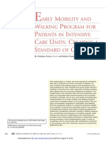 Early Mobility and Walking Program for Patients in Intensive Care Units Creating a Standard of Care