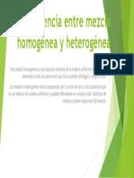 Diferencia Entre Mezcla Homogénea y Heterogénea