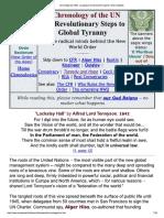 Cronologia Da ONU_ Os Passos Revolucionários Para a Tirania Global
