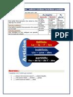 7.Les Articles Définis, Indéfinis Et Partitifs (1)