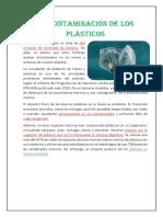 La Contaminación de Los Plásticos