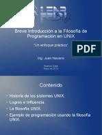 Breve Introducción a la Filosofía de Programación en UNIX