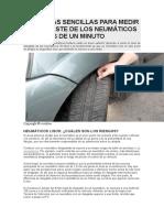 3 Técnicas Sencillas Para Medir El Desgaste de Los Neumáticos en Menos de Un Minuto