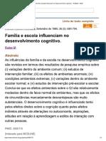 Família e Escola Influenciam No Desenvolvimento Cognitivo. - PubMed - NCBI