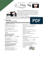Price Tag Worksheet
