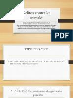 Delitos Contra Los Animales Diapositivas (Liz Lozano Carrero)