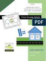 first grade math unit plan