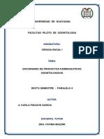 Diccionario de Productos Farmaceuticos Odontologicos