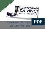 Programa Derecho Notarial II