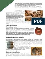 Tipos de Ceramica Americana