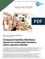 Crianças de Famílias 'Direitistas' Deve...Re o Governo Alemão _ Blogs _ LifeSite MODELAGEM PSICOLÓGICA NA ALEMANHA