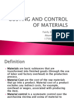 Costing and Control of Materials