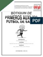 Botiquin de Primeros Auxilios Para Futbol de Salon