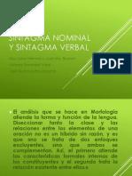 sintagma nominal y verbal