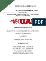 MARKETING, DESAROOLLO DE UNA ESTRATEGIA EN LAS UNIVERSIDADES