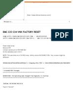 Emc Cx3 Cx4 Vnx Factory Reset