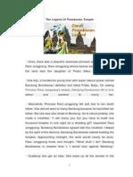 The Legend of Prambanan Temple