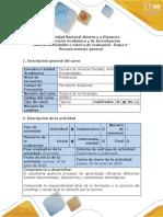 Guía de Actividades y Rúbrica de Evaluación - Etapa 0 - Reconocimiento General