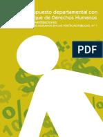 Presupuesto Departamental con enfoque en derechos humanos