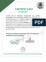 Certificado Dcrb Espinoza