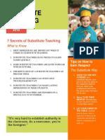 Subsitute Teaching Newsletter