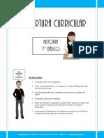 Cobertura Curricular Historia 7basico 2012