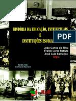 Sanfelice (Org) História Da Educação, Intelectuais e Instituições Escolares