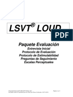 Lsvt Loud Treatment and Assessment Forms Spanish