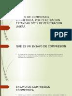 Ensayos de Compresión Edometrica, Por Penetración Estándar