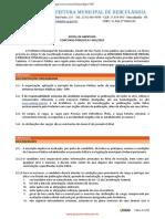 Edital de Abertura Concurso Público Prefeitura de Herculândia - SP