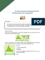 Semejanza de Triángulos - Semejanza de Triángulos (1)