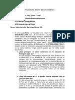 Taller Principios Del Derecho Laboral Colombiano