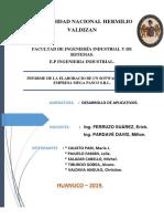 Informe de La Elaboracio de Un Sotware Para La Empresa Mega Pasco s.r.l.