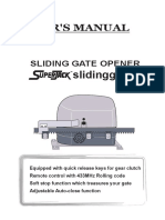 sliding gate Manual