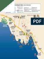 Mapa turístico de Puerto Escondido.