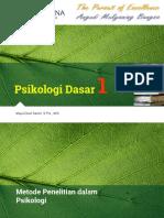 PsiDasar1 Temu4 MetodePenelitianPsikologi Sent Converted