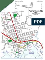 Mapa Puerto Escondido Centro