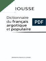 LAROUSSE Dictionnaire Du Francais Argotique Et