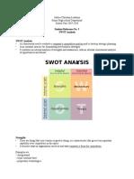Srm 3- Swot Analysis
