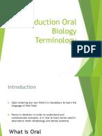 Oral Bio Introduction